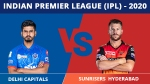 IPL 2020: ഡല്ഹി x ഹൈദരാബാദ്- ഒന്നാംസ്ഥാനക്കാരെ അവസാന സ്ഥാനക്കാര് വീഴ്ത്തുമോ?
