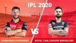 IPL 2020: ആര്സിബി vs ഹൈദരാബാദ്, വിജയത്തോടെ തുടങ്ങാന് കോലിയും വാര്ണറും
