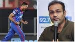 IPL 2021: 'അവനെക്കുറിച്ച് ആരും സംസാരിക്കുന്നില്ല', ഡല്ഹി പേസറെ പ്രശംസിച്ച് വീരേന്ദര് സെവാഗ്