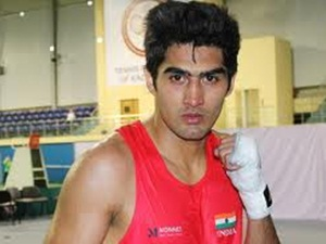 Sports London Olympics Boxing Vijender Pre Quarter