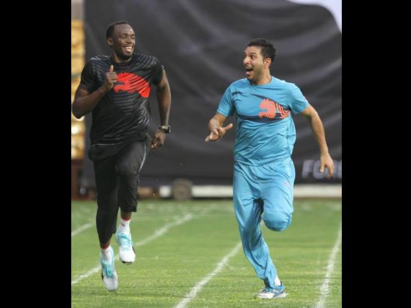 Usain Bolt Smashes 5 Sixes Beat Team Yuvraj Singh