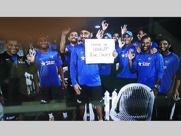 Very Very Special Message From Team India Laxman We Love Your Shirt