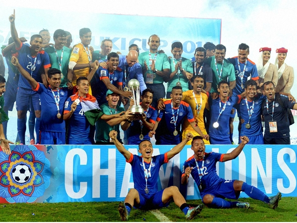 Saff Cup Football India Beat Afghanistan