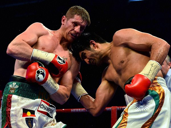 Vijender Singh S Wbo Asia Pacific Title Match Pictures Video
