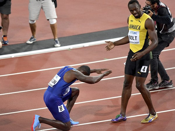 Gatlin Iaaf World Championships Bolt Athletics Sprinting