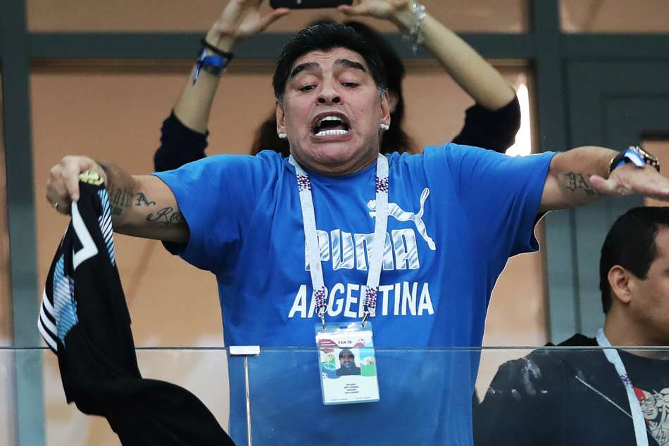 Diego Maradona Collapses After Wild Celebrations