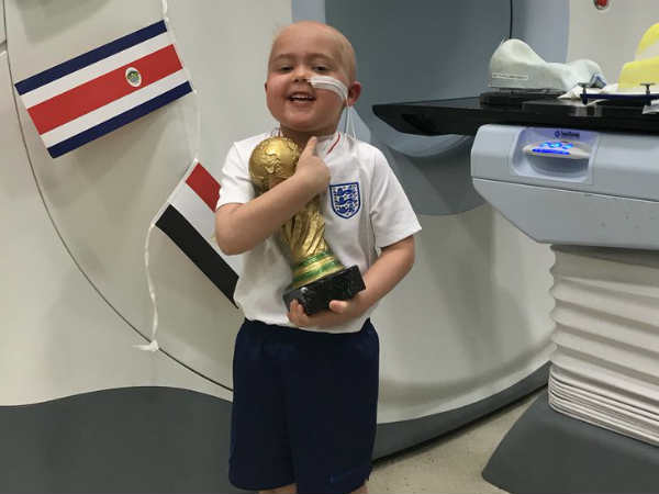 After Six Weeks Of Radiotherpy Boy Wanted His Own World Cup