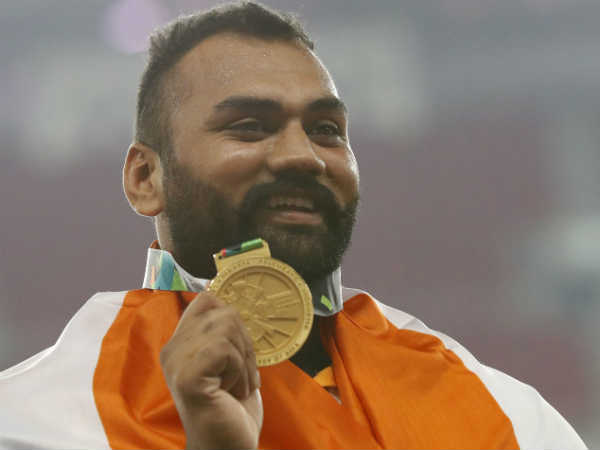 Tejinder Clinches Gold For India In Asian Games