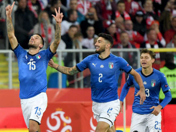 Italy Beats Poland In Uefa Nations League Football