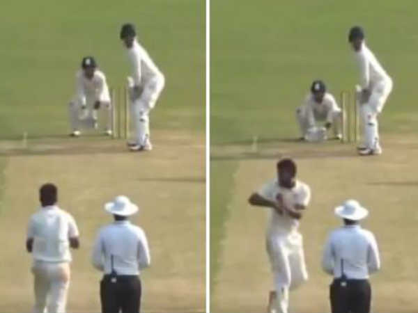 Bowler Does 360 Degree Turn Before Delivering The Ball In A Match