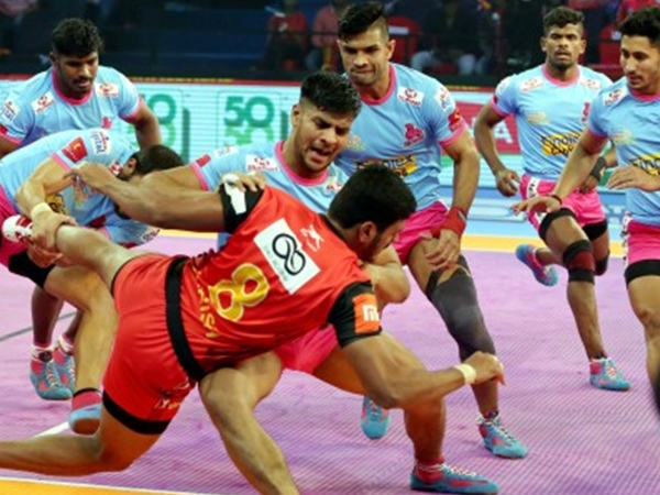 Pro Kabaddi League Bengaluru Bulls Past Jaipur