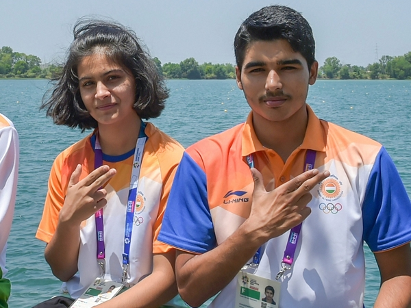 Manu Bhaker and Saurabh Chaudhary win mixed event gold with junior world record