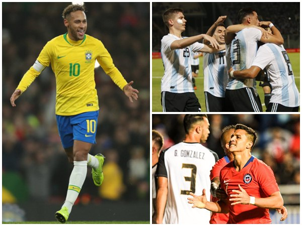 Brazil And Argentina Won Friendly Football Matches