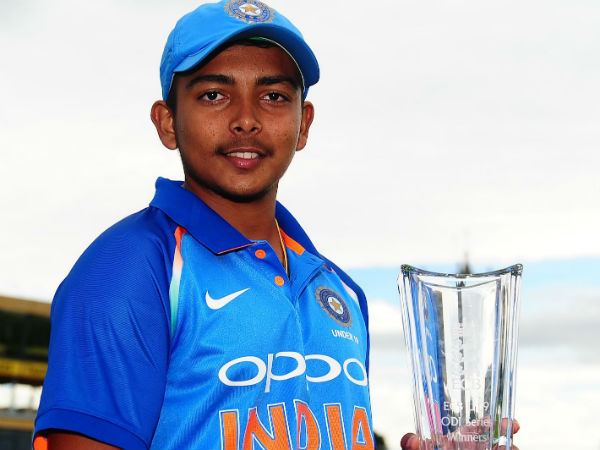 Prithvi Shaw Carried Off The Field