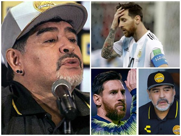 Lionel Messi Never Be A Leader Says Diego Maradona