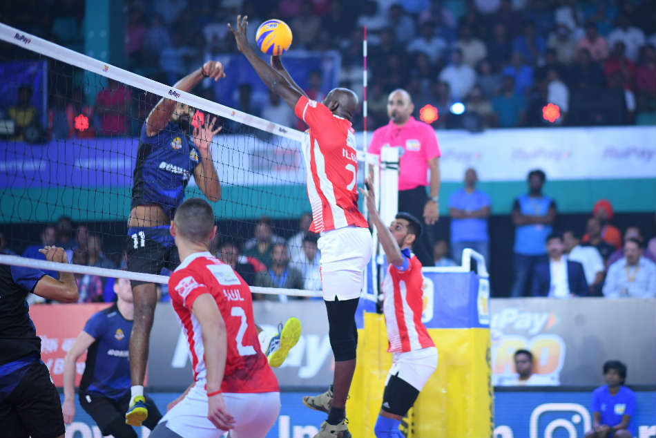 Pro Volleyball League Calicut Heroes Ahmedabad Defenders