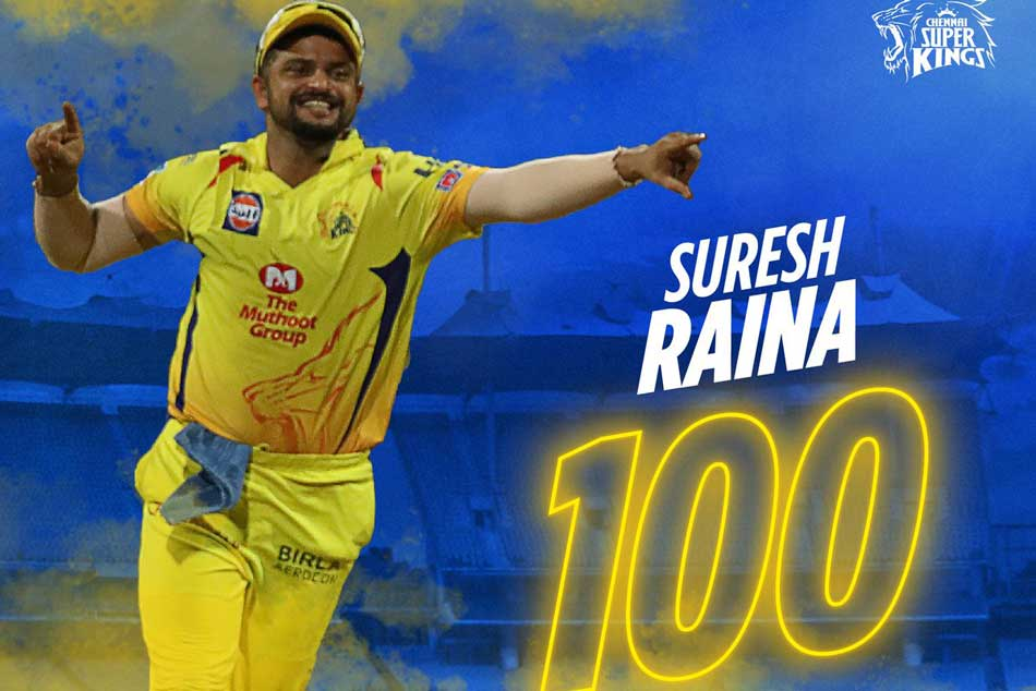 Suresh Raina 1st Fielder To Take 100 Catches