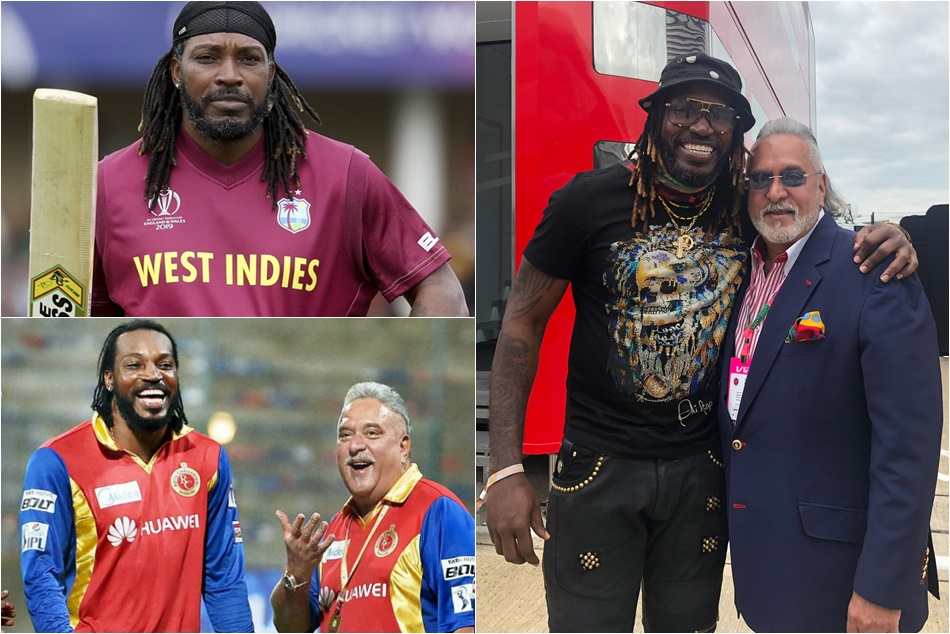 West Indies Player Chris Gayle Photo With Vijay Mallya