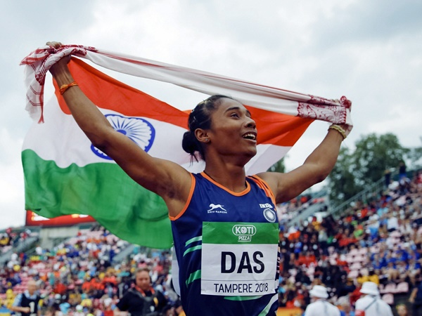 Hima Das Won Gold Medal In 400 M