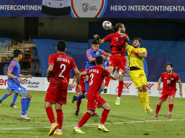 India Syria Intercontinental Cup Football Match Ends In Draw