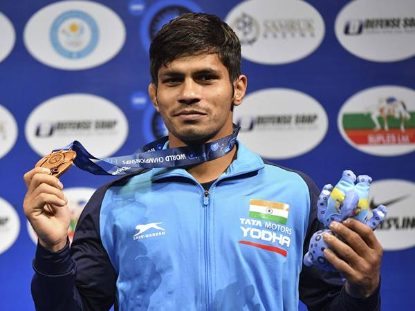 Rahul Aware Win Bronze In World Wrestling Championships