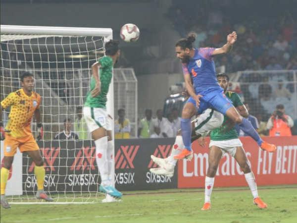 ഇന്ത്യ vs ബംഗ്ലാദേശ് ലോകകപ്പ് യോഗ്യത: സമനിലയുമായി ഇന്ത്യ രക്ഷപ്പെട്ടു (1-1)