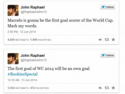 John Predicted The Self Goal Of Brazil In The Inaugural Match