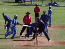 Video Cricket Match Turns Wrestling Kickboxing Contest Player Banned
