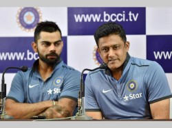India Wi Test Selecting Playing Xi Virat Kohli Anil Kumble Team India