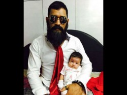 Big Bearded Ms Dhoni Posts Image With Daughter Ziva Team India