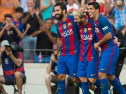 Arda Turan Scored A Hat Trick As Barcelona Claimed An Emphatic Win Over Third Tier Hercules