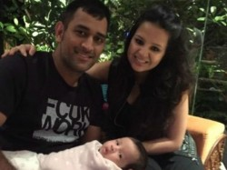 Mahendra Singh Dhoni As A Family Man And Sakshis Tweet Goes Viral