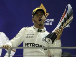 Hamilton Wins World F1 Title For 4th Time