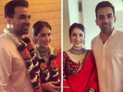 Indian Cricketer Zaheer Khan Sagarika Ghatge Ties The Knot