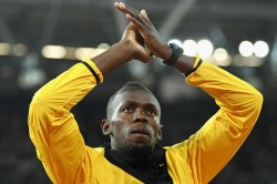 Usain Bolt Trains With Norwegian Club