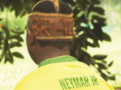 Brazil Fan Mani With His New Hair Style
