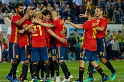 Spain Vs Morocco World Cup Match