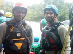 Two Malayalies Participating Free Style Kayaking Tournament