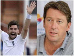 Australia Legend Mcgrath Challenges James Anderson