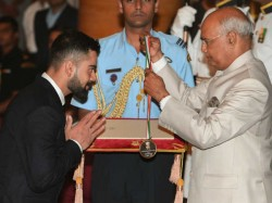 Virat Kohli Mirabhai Chanu Conferred Khel Ratna Award