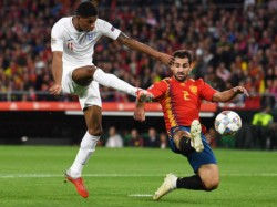 England Beats Spain In Uefa Nations League Football