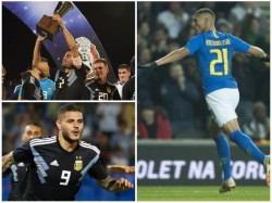 Argentina And Brazil Won Friendly Football Matches
