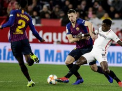 Barcelona Stunned By Sevilla In Kings Cup Quarter Final First Leg