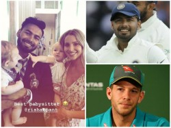 Indian Wicket Keeper Rishabh Pant Baby Sits Tim Paines Kids