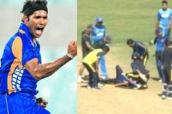 Ashok Dinda Struck On The Forehead
