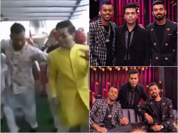 Hardik Pandya Shakes A Leg With Karan Johar
