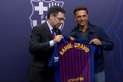 Rahul Dravid At Camp Nou