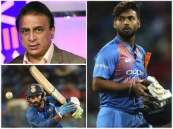 Sunil Gavaskar Surprised By Pant S Omission In World Cup Team