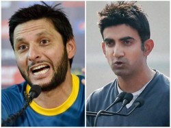 Pakistan Legend Afridi Lashes Out At Former Indian Opener Gautam Gambhir