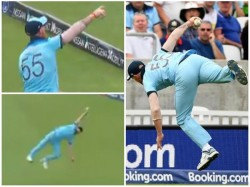 Ben Stokes Takes Wonder Catch Against South Africa In World Cup Opener